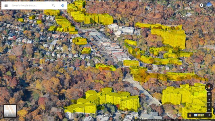 strip density google earth 3d